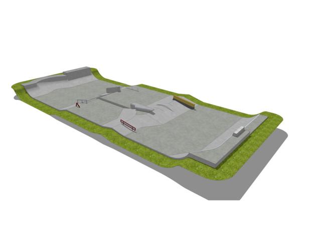 Skatepark, Skatepark 415 m2, Techramps Concrete