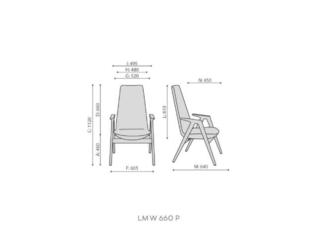 Armchairs, LUMI LM W 660 P, Bejot