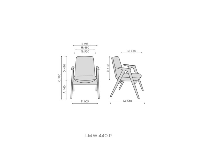 Armchairs, LUMI LM W 460 P, Bejot