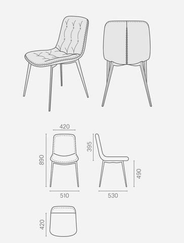 Krzesła, KRZESŁO FERRARA SAND, KLER SA