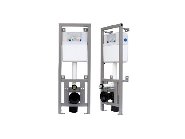 In-wall Toilet Systems, Flush-mounted frame for toilet, FANECO