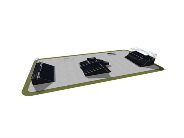 Skatepark, Skatepark modułowy nr 520115, Grupa Techramps
