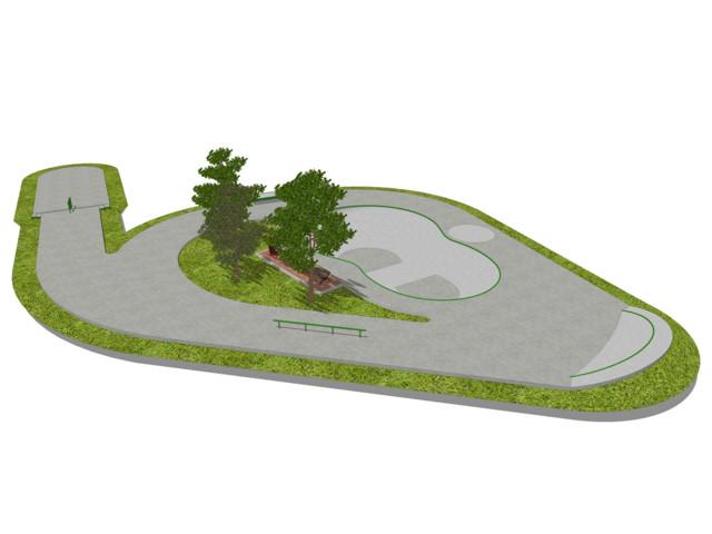 Skatepark, Skatepark 380 m2, Techramps Concrete