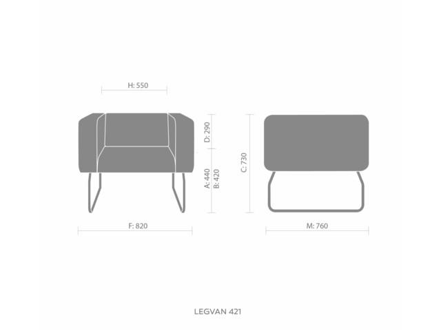 Sofas, LEGVAN LG 421, Bejot