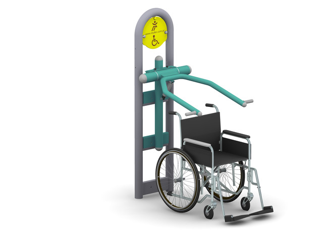 Outdoor gyms, Wheelchair Accessible Sitting Press, Müller Jelcz-Laskowice Sp. z o.o
