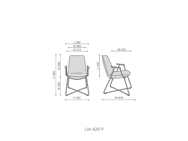 Armchairs, LUMI LM 429/ LM 429 P, Bejot