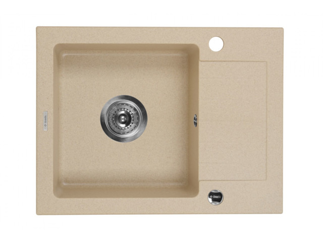 Square Sinks, 1-bowl sink with draining short board Zorba, Deante
