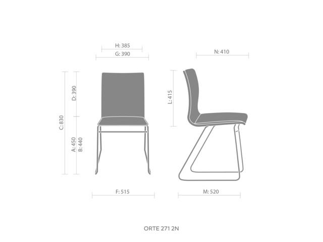 Chairs, ORTE OT 271, Bejot