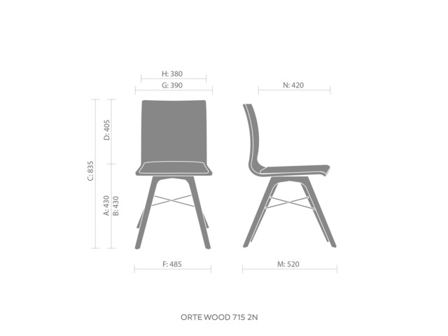 Chairs, ORTE OT W 715, Bejot