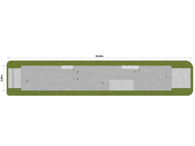 Skatepark, Skatepark LC 175 m2, Techramps Concrete
