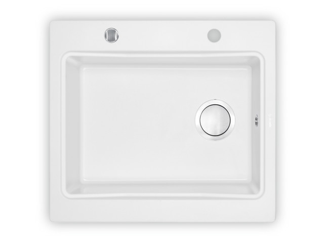 Square Sinks, 1-bowl sink without draining board Modern, Deante