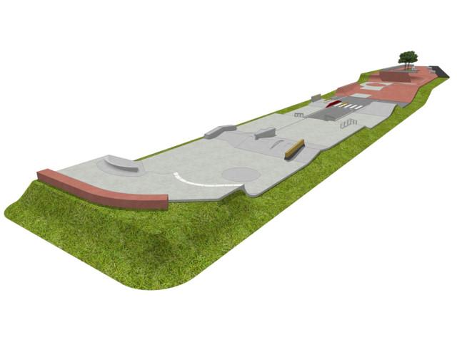 Skatepark, Skatepark 1065 m2, Techramps Concrete