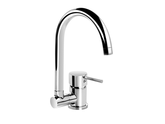 Kitchen Taps, Standing sink mixer with folding U shaped spout, Deante