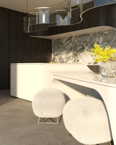 CONTEMPORARY OVAL KITCHEN