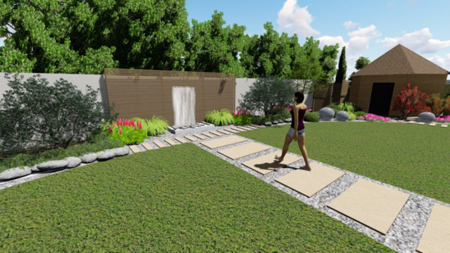 Projekt ogrodu w stulu orientalnym