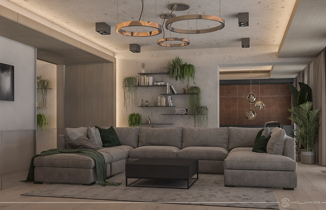 A beautiful apartment in a modern style with elements...