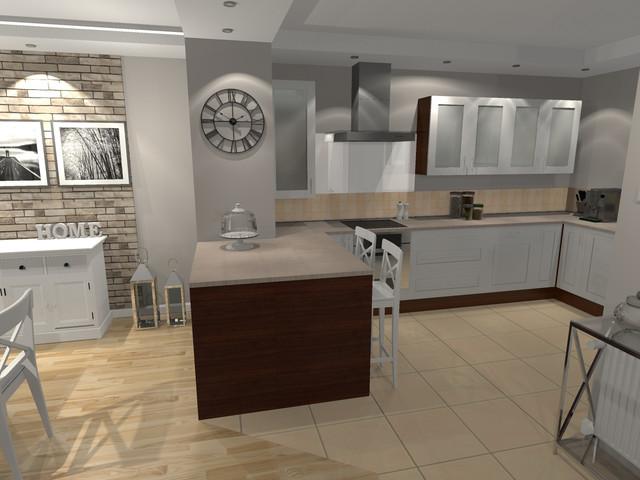 Remont salonu, kuchni i przedsionka w Piasecznie