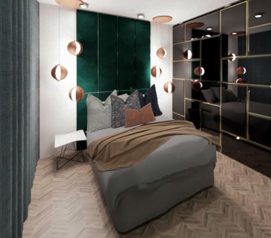 Mieszkanie w stylu Glamour.
