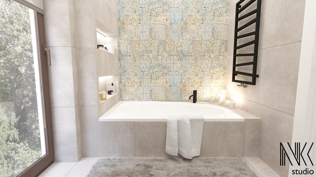 Niestandardowy patchwork w łazience
