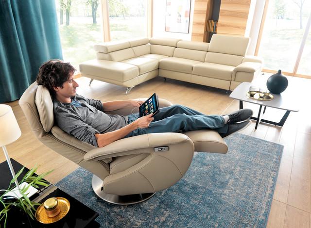 Fotel Frida z funkcją relaksu sterowaną elektrycznie...