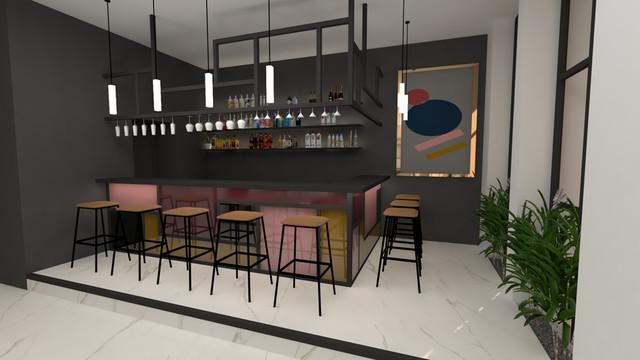 Bar w lobby hotelowym