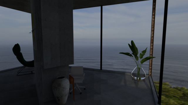 Living room/Dining room with a view