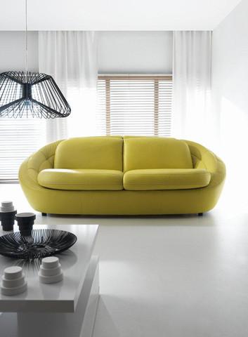 Skórzana sofa Planet to mebel przyciągający spojrzenia...