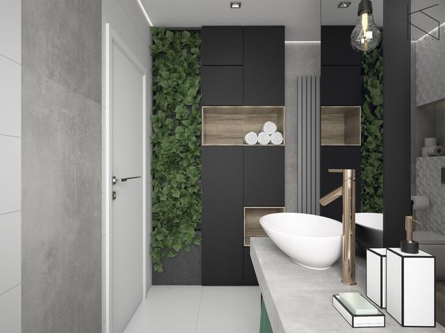 Łazienka - widok na strefę umywalek