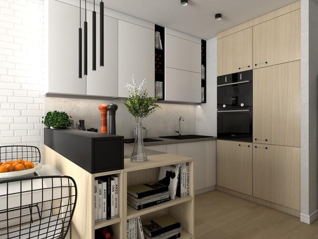 Kuchnia w dwóch wersjach w mieszkaniu w Krakowie