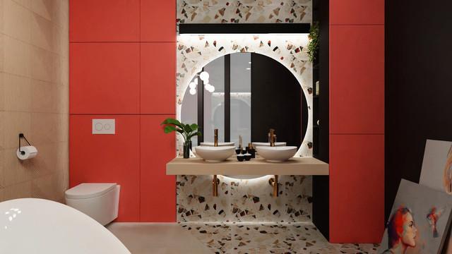koralowa łazienka
