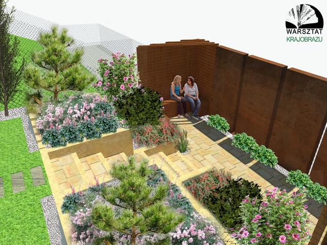 Projekt zagospodarowania małego ogrodu przy domu jednorodzinnym