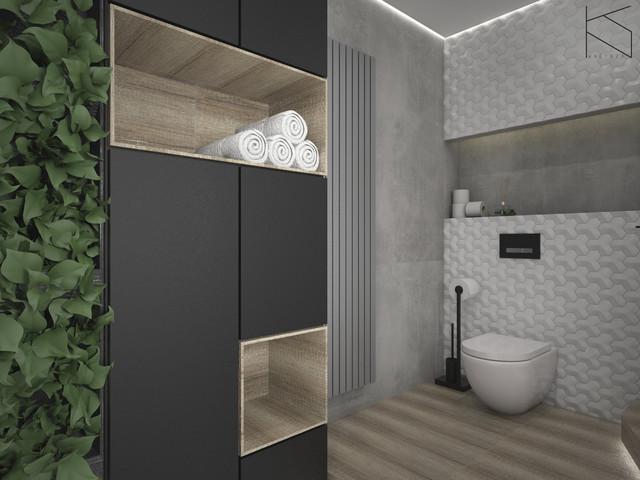 Łazienka - widok na strefę WC