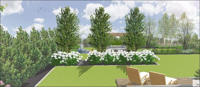 Nowoczesny ogród w Brzynie