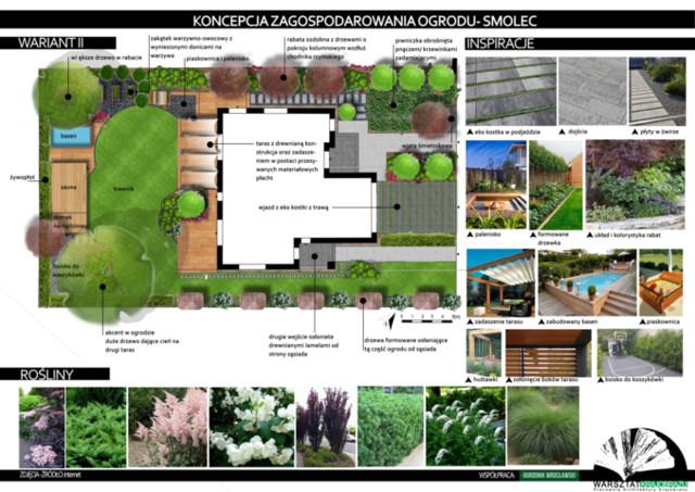 Projekt zagospodarowania ogrodu przy domu jednorodzinnym w Smolcu