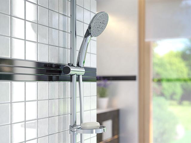 Systemy prysznicowe natynkowe, Natrysk przesuwny 3-funkcyjny z funkcją ECO Doppio VerdeLine, FERRO