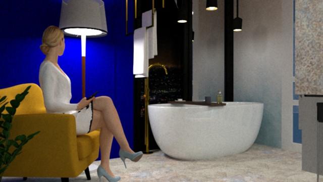 Salon wodny Ombre Beige&Blue