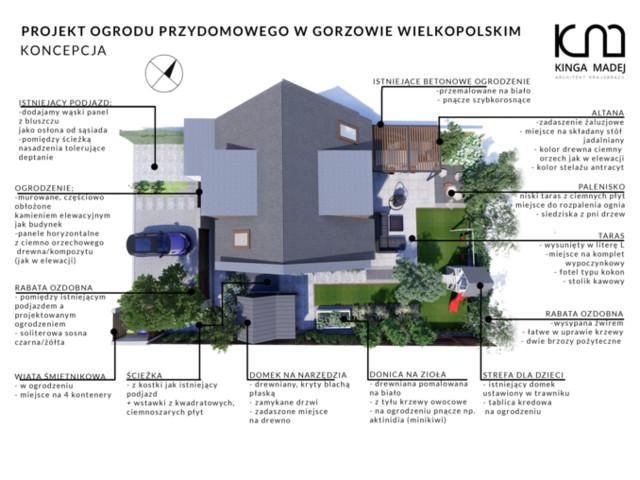 Ogród przy bliźniaku w Gorzowie Wielkopolskim