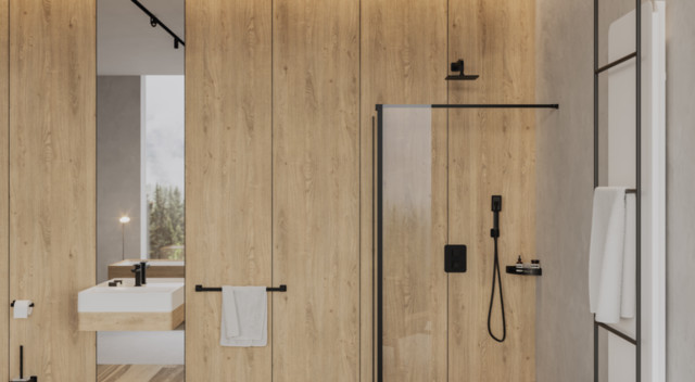 Kitchen Taps, NELSON NL80216BL - Towel rail, 62 cm, black, OMNIRES
