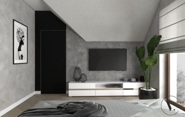 Sypialnia w wersji black &white