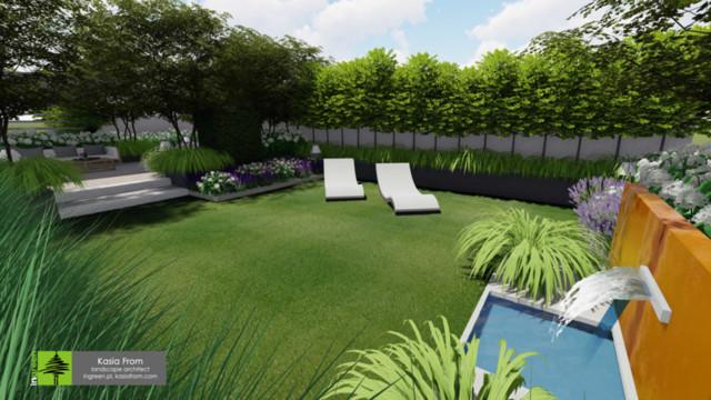 Ogród na dachu - Roof garden - Taras Projekt ogrodu...