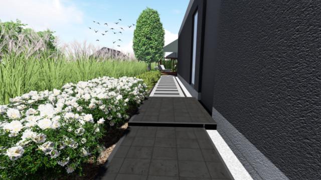 Projekt zagospodarowania wąskiego ogrodu w Turowie