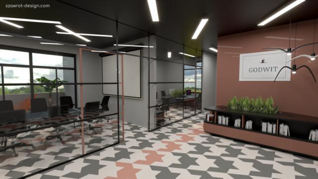 Projekt wnętrza małej firmy start-up'owej