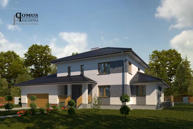 Projekt elewacji domu jednorodzinnego w Częstochowie