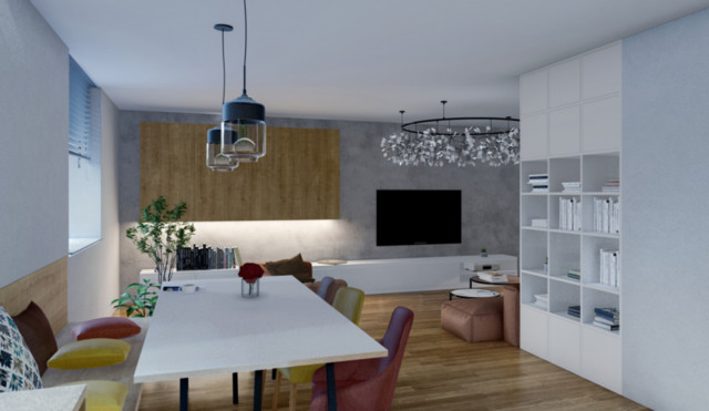 Living room in family house