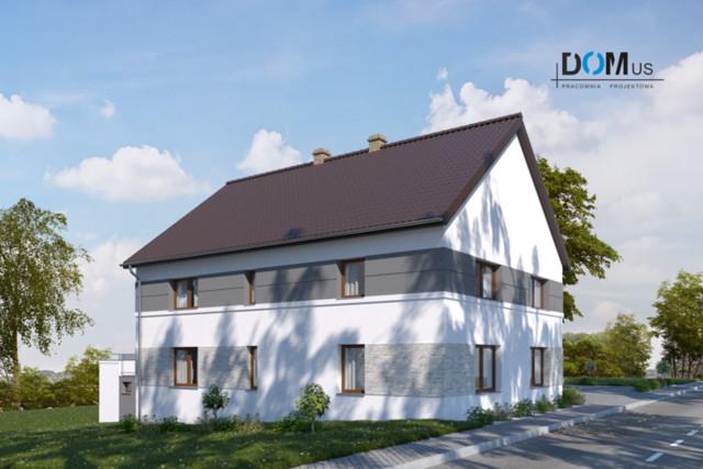 Projekt elewacji dla tzw. poniemieckiego domu jednorodzinnego...