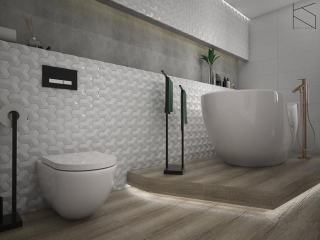 Łazienka - strefa WC | strefa wanny