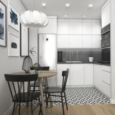 Projekt mieszkania w Krakowie 35 m2