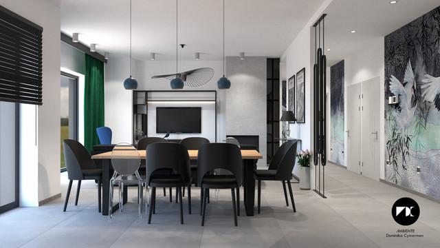 Projekt częściowej aranżacji parteru domu w Pyskowicach