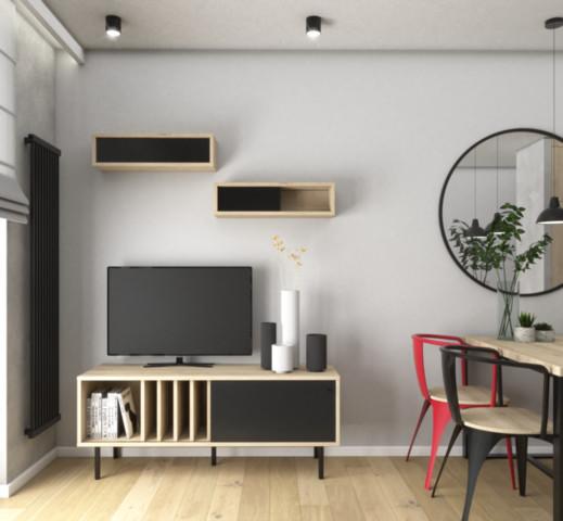 Industrialne mieszkanie dla singla