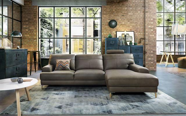 Leather corner sofa Mondo (Gala Collezione) - industrial...